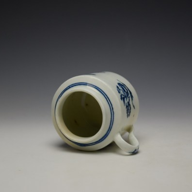 Worcester Three Flowers Pattern Mustard Pot and Cover c1785 (7)