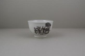 Worcester Porcelain Rare Fortune Teller Pattern Sucier base, C1765-70 (7)