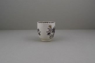 Worcester Pencilled Coffee Cup, C1765 (3)