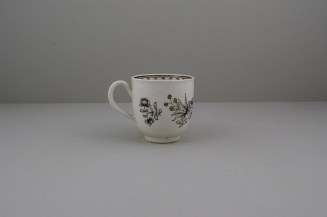 Worcester Pencilled Coffee Cup, C1765 (5)