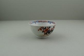 Lowestoft Porcelain Redgrave Two Bird Pattern Teabowl and Saucer, C1770-85. 3