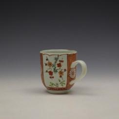 Liverpool Richard Chaffers Scarlett Japan Pattern Coffee Cup c1758-60 (5)