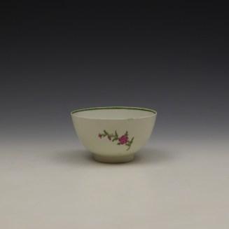 Lowestoft Rose and Floral Sprays Pattern Teabowl c1790-1800 (3)