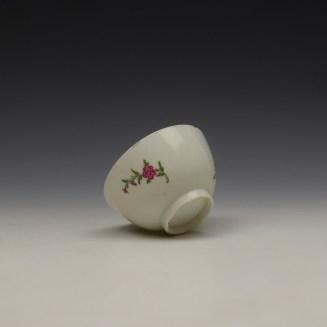 Lowestoft Rose and Floral Sprays Pattern Teabowl c1790-1800 (6)