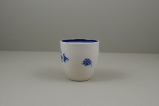 Caughley Salopian Sprigs Pattern Coffee Cup and Saucer, C1785-95 (13)