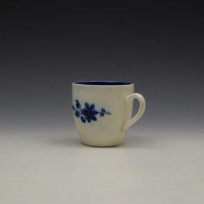 Caughley Salopian Sprigs Pattern Coffee Cupc1785-95 (5)