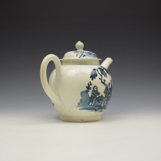 Liverpool Seth Pennington Lady and Servant Pattern Teapot and Cover c1790 (5)
