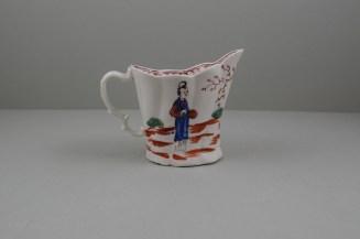 Liverpool Porcelain Seth Pennington Mandarin Pattern High Chelsea Ewer, C1790 (5)