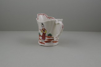 Liverpool Porcelain Seth Pennington Mandarin Pattern High Chelsea Ewer, C1790 (8)