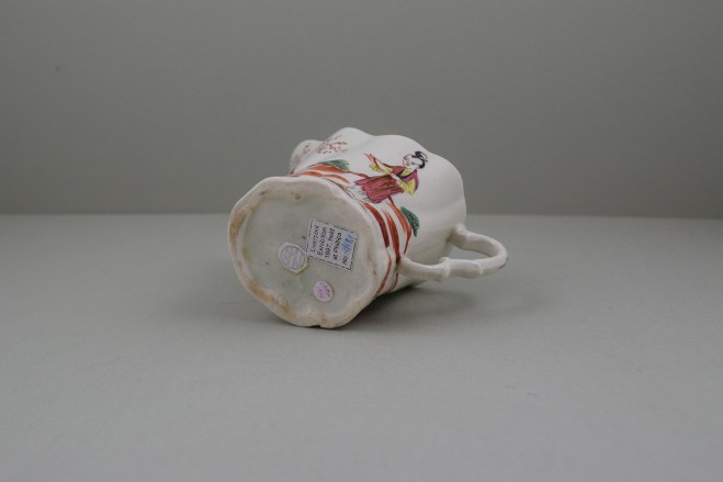 Liverpool Porcelain Seth Pennington Mandarin Pattern High Chelsea Ewer, C1790 (9)