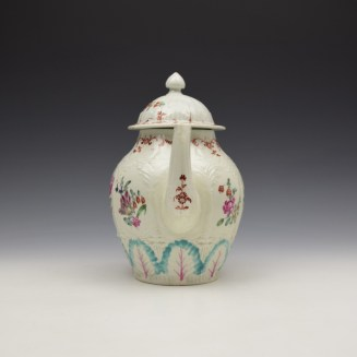 Liverpool Seth Pennington Moulded Floral Pattern Teapot and Cover c1785-95 (3)