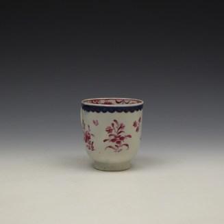 Liverpool Seth Pennington Puce Monochrome Floral Pattern Coffee Cup c1785 (3)