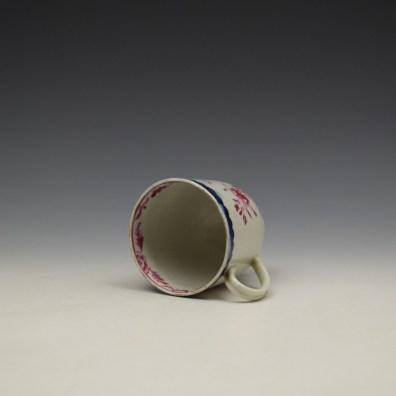 Liverpool Seth Pennington Puce Monochrome Floral Pattern Coffee Cup c1785 (7)