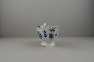Worcester Porcelain Strap Flute Floral Pattern Sauceboat, C1770-80 (3)