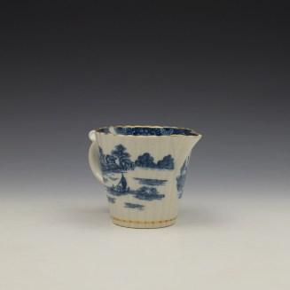 Caughley Temple Pattern Cream Jug c1782-94 (3)