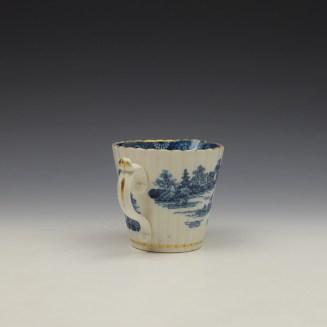 Caughley Temple Pattern Cream Jug c1782-94 (5)