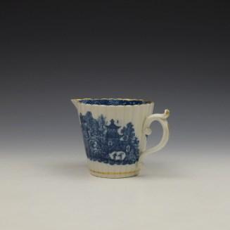 Caughley Temple Pattern Cream Jug c1782-94 (6)
