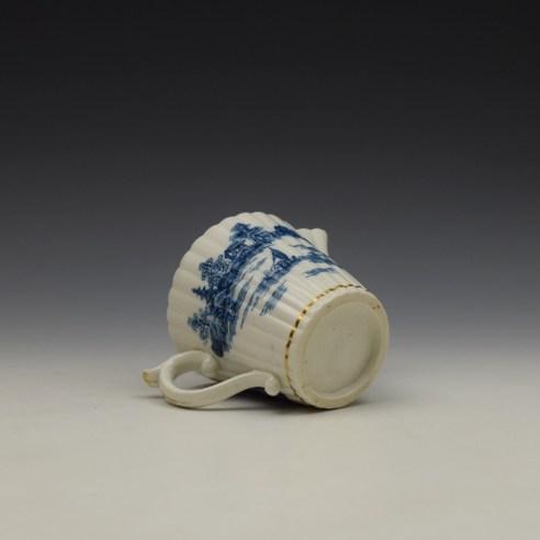 Caughley Temple Pattern Cream Jug c1782-94 (8)