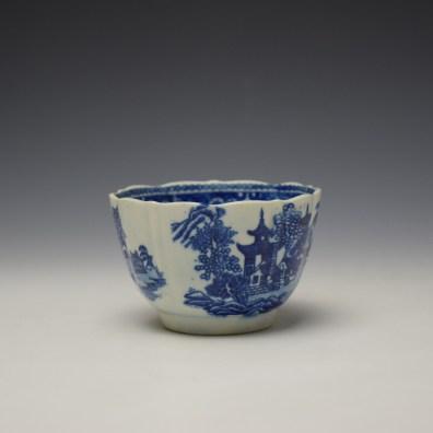 Worcester Temple Pattern Teabowl c1780-90 (2)