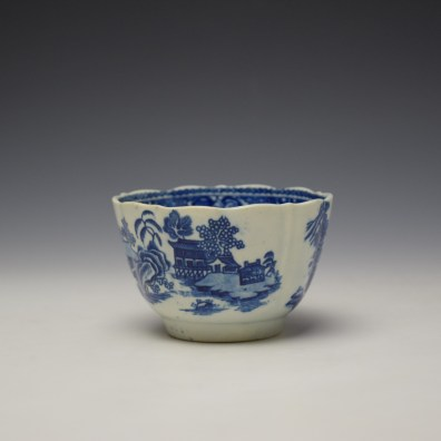 Worcester Temple Pattern Teabowl c1780-90 (3)