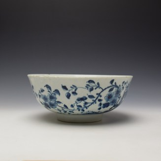 Worcester The Prunus Fence Pattern Large Bowl c1755-60 (2)