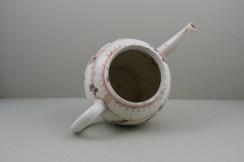Lowestoft Porcelain Tulip Painter Teapot C1775-85. 10