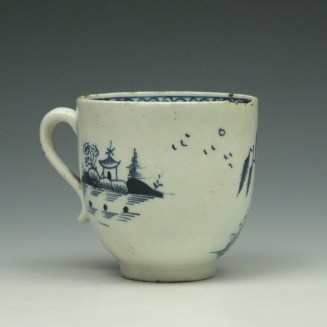 Lowestoft Two Story House and River Pattern Coffee Cup c1785-95 (3)