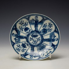 Worcester Arcade Pattern Teabowl and Saucer c1765-70 (7)
