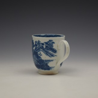 Caughley Fenced Garden Pattern Coffee Cup c1782-92 (6)