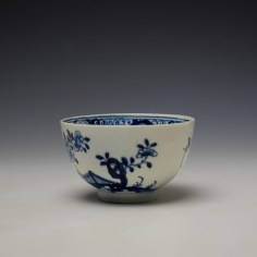 Lowestoft Flowering Plant Holed Rock and Fence Pattern Teabowl and Saucer c1780-85 (6)