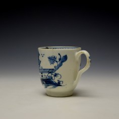 Lowestoft Gatehouse and Walled Garden Pattern Coffee Cup and Saucer c1785-90 (6)