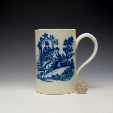Caughley La Peche La Promenade Chinoise Pattern Mug c1776-92 (2)