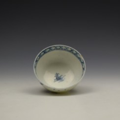 Lowestoft Two House River Landscape Pattern Teabowl and saucer c1785-90 (7)