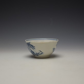 Lowestoft Chinese Tea Party Pattern Teabowl c1775-80 (4)