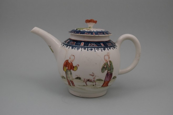 Lowestoft Porcelain Mandarin A Walk In The Park Pattern, C1768-70 (1)