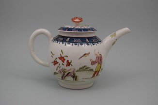 Lowestoft Porcelain Mandarin A Walk In The Park Pattern, C1768-70 (5)