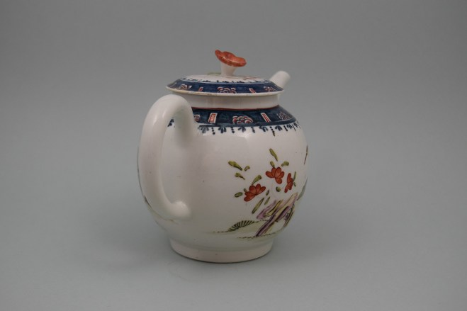 Lowestoft Porcelain Mandarin A Walk In The Park Pattern, C1768-70 (6)