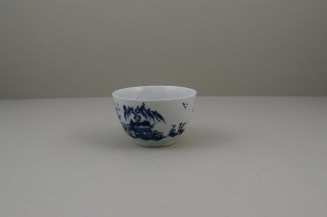 Lowestoft Porcelain Very Rare Windy Day Pattern Teabowl and Saucer, C1760 (6)