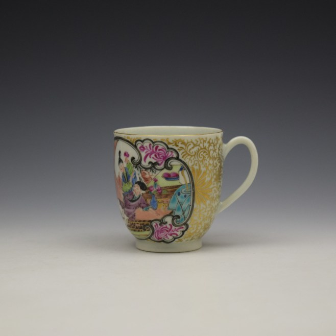 Worcester James Giles Decorated Mandarin Pattern Coffee Cup c1775-85 (1)