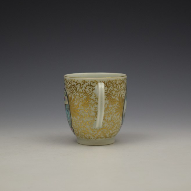 Worcester James Giles Decorated Mandarin Pattern Coffee Cup c1775-85 (6)
