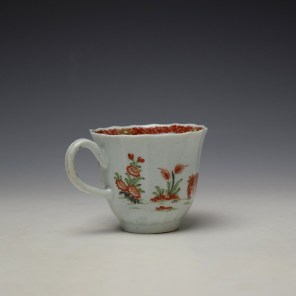 Worcester Red Crab Pattern Fluted Coffee Cup c1758-65 (4)