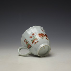 Worcester Red Crab Pattern Fluted Coffee Cup c1758-65 (7)