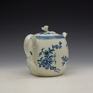 Worcester Ribbon Root Pattern Teapot and Cover c1775 (5)