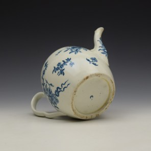 Worcester Ribbon Root Pattern Teapot and Cover c1775 (8)