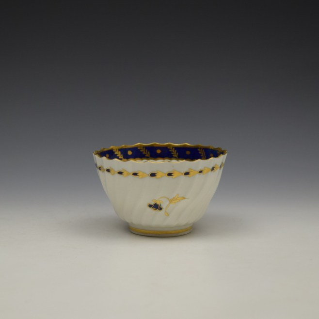 Worcester Flight Period Corn Sprigs Pattern Trio c1785 (12)