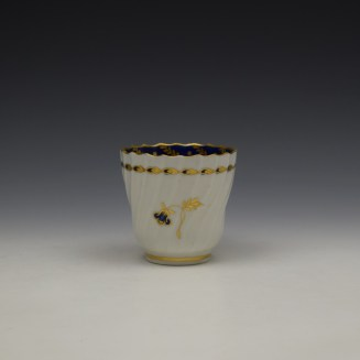 Worcester Flight Period Corn Sprigs Pattern Trio c1785 (3)