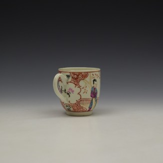 Worcester Lady With Fan Mandarin Pattern Coffee Cup c1770-80 (4)
