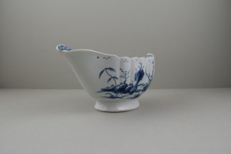 Worcester Porcelain First Period Fringed Tree Pattern Sauceboat (2)
