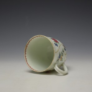 Worcester Queens Floral Pattern Coffee Cup c1765-70 (6)