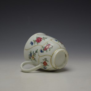 Worcester Queens Floral Pattern Coffee Cup c1765-70 (7)